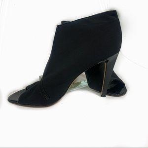 Saks Fifth Avenue peep to black heel